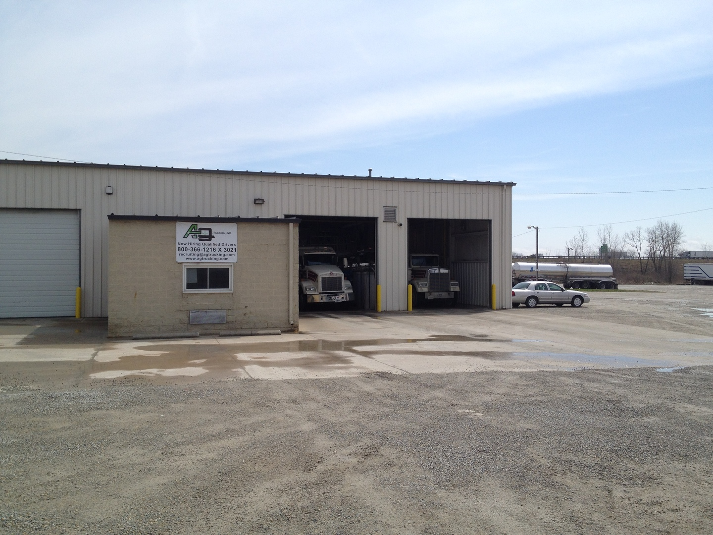 The Ag Tank Wash is located at 798 S Vandemark Rd in Sidney, OH.  We are convientelty located across the street from the Cargill Sidney, OH plant.  We are a Kosher Certified, Food Grade tank wash.  For more information please call Brandon at 800-745-7472.